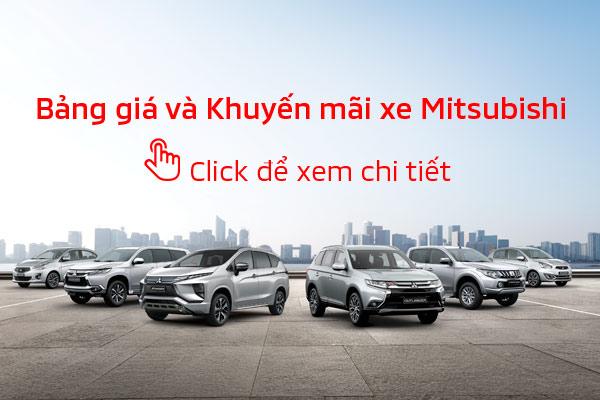 Bảng giá và khuyến mãi xe Mitsubishi tháng 02/2019